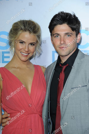 Linsey Godfrey, at left, and Robert Adamson arrives at the CBS Daytime Emmy After Party at the Beverly Hilton Hotel on in Beverly Hills, Calif