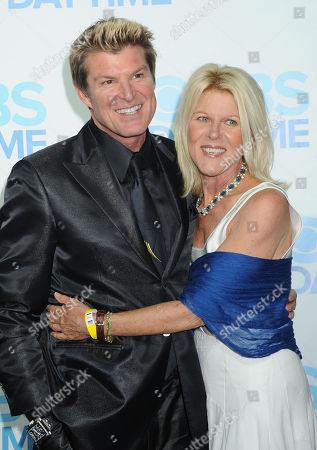 Winsor Harmon, at left, and Alley Mills arrive at The CBS Daytime Emmy Awards Afterparty at the Aqua Star Pool, Beverly Hilton,, in Beverly Hills, CA