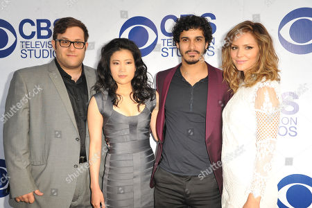 Nick Wooton, from left, Jadyn Wong, Elyes Gabel, and Katharine McPhee arrive at CBS Television Studios Summer Soiree at The London Hotel on in Los Angeles