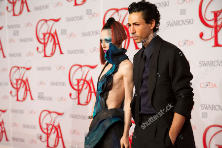 Michelle Harper and Christian Cota arrive at the CFDA Fashion Awards on in New York