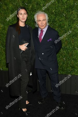 Tony Shafrazi and guest attend the CHANEL Tribeca Film Festival Artist Dinner at Balthazar Restaurant, in New York