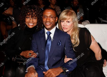 L-R) Beverly Todd, Tommy Davidson and Daphna Ziman attend Chocolate Sundaes Comedy Show Premiere at The Mark For Events, in Beverly Hills, California. Chocolate Sundaes Comedy Show debuts on Showtime Feb 7, 2013