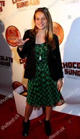Actress and singer Lauren Suthers attends Chocolate Sundaes Comedy Show Premiere at The Mark For Events, in Beverly Hills, California. Chocolate Sundaes Comedy Show debuts on Showtime Feb 7, 2013