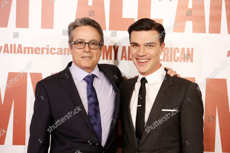 Stock Image of Director Angelo Pizzo and Finn Wittrock seen at Clarius Entertainment Los Angeles Premiere of 'My All American' at The Grove, in Los Angeles, CA