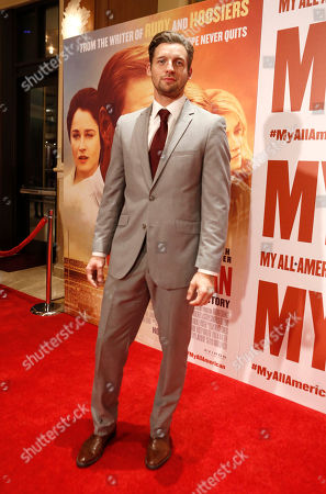 Stock Image of Donny Boaz seen at Clarius Entertainment Los Angeles Premiere of 'My All American' at The Grove, in Los Angeles, CA