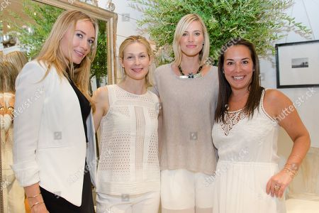 Michelle Campbell, Kelly Rutherford, Kristen Taekman, and Samantha Yanks attend a Club Monaco store opening event in Southampton on in New York
