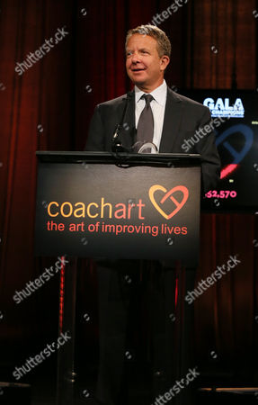 Jeremy Zimmer, CEO and co-founder of UTA, speaks on stage at the CoachArt Gala of Champions in Beverly Hills, Calif. on