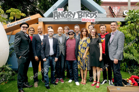 "Director Fergal Reilly, Executive Producer David Maisel, Keegan-Michael Key, Producer John Cohen, Billy Eichner, Tony Hale, Ike Barinholtz, Josh Gad, Blake Shelton, Maya Rudolph, Bill Hader, Producer Catherine Winder, Jason Sudeikis and Director Clay Kaytis seen at Columbia Pictures and Rovio Animations Premiere of ""The Angry Birds Movie"" at Regency Village Theatre, in Los Angeles"