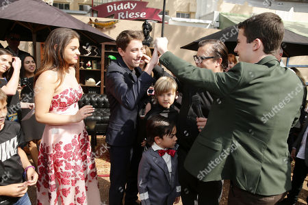 Odeya Rush, Ryan Lee, Samuel Jason Black, Thomas David Black, Jack Black and Dylan Minnette seen at Columbia Pictures and Sony Pictures Animation World Premiere of 'Goosebumps' at Regency Village Theatre, in Westwood, CA