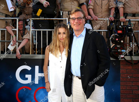 Roxy Sorkin and Aaron Sorkin are seen at the Los Angeles Premiere of Columbia Pictures' Ghostbusters at TCL Chinese Theatre, in Los Angeles