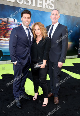 Adam Ray, Jessica Chaffin, and Michael McDonald are seen at the Los Angeles Premiere of Columbia Pictures' Ghostbusters at TCL Chinese Theatre, in Los Angeles