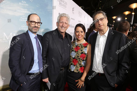 Doug Belgrad, President, Sony Pictures Motion Picture Group, Producer Joe Roth, Director Patricia Riggen and Tom Rothman, Chairman, Sony Pictures Motion Picture Group, seen at Columbia Pictures world premiere of 'Miracles from Heaven' at ArcLight Hollywood, in Hollywood, CA