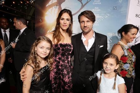 Stock Photo of Kylie Rogers, Jennifer Garner, Martin Henderson and Courtney Fansler seen at Columbia Pictures world premiere of 'Miracles from Heaven' at ArcLight Hollywood, in Hollywood, CA