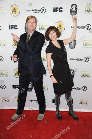 Kurt Braunohler, left, and Kristen Schaal attend the Comedy Bang Bang Nativity Pageant at the Ricardo Montalban Theatre, in Los Angeles