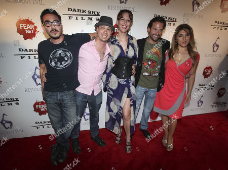 Actors Dean Ronalds, Brian Ronalds, Meghan Ashley, Paulo Benedeti and Michelle Alexandria arrive to the Fear Net and Resident Evil Party at Voyeur Nightclub for Comic-Con weekend, in San Diego