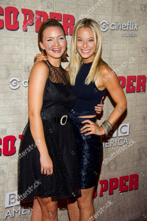 """Tanya Fischer, left, and Anastasia Griffith attend the premiere of BBC America's """"Copper"""" on in New York"""