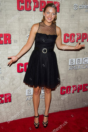"""Tanya Fischer attends the premiere of BBC America's """"Copper"""" on in New York"""