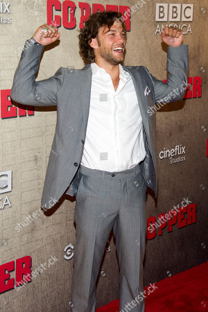 """Kyle Schmid attends the premiere of BBC America's """"Copper"""" on in New York"""
