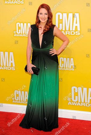 Katie Armiger arrives at the 46th Annual Country Music Awards at the Bridgestone Arena, in Nashville, Tenn