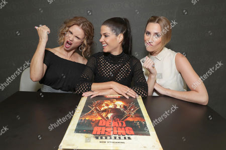 "Stock Picture of Keegan Connor Tracy, Marie Avgeropoulos and Jessica Harmon seen at Crackle's ""Dead Rising: Endgame"" at the Capcom Booth at 2016 Comic Con, in San Diego, CA"