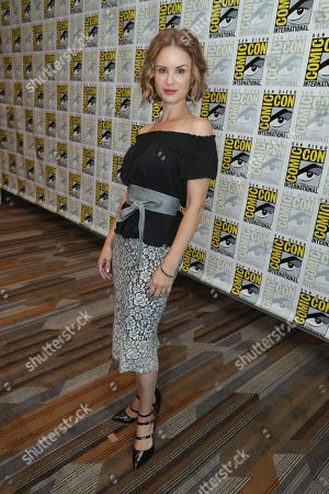"Keegan Connor Tracy seen at Crackle's ""Dead Rising: Endgame"" at 2016 Comic Con, in San Diego, CA"