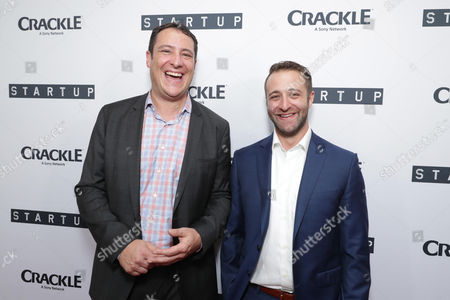 """Vice President Head of Digital Development at Crackle, John Orlando and Creator/Director/ Writer/EP Ben Ketai seen at Crackle's """"StartUp"""" Premiere at The London West Hollywood, in Los Angeles, CA"""
