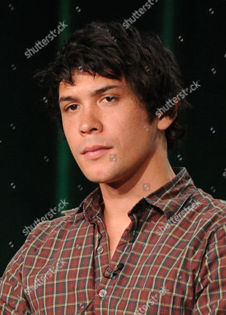 """Cast member Bob Morley participates in """"The 100"""" panel at the CBS Winter TCA Press Tour, on at the Langham Huntington, in Pasadena, Calif"""