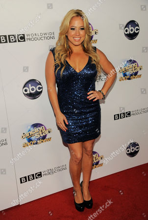 Celebrity contestant Sabrina Bryan poses at the Dancing With The Stars 300th episode celebration at Boulevard 3 on in Los Angeles