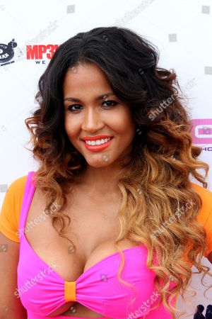 Fitness guru Rosa Acosta attends Darnaa Listening Party and Live Performance Event on at Whisky a Go Go in West Hollywood, California
