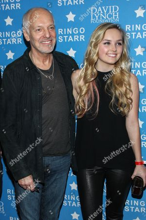 "Musician Peter Frampton and daughter / actress Mia Rose Frampton attend the David Lynch Foundation Honors Ringo Star ""A Lifetime of Peace & Love"" event held at the El Rey Theatre on in Los Angeles"