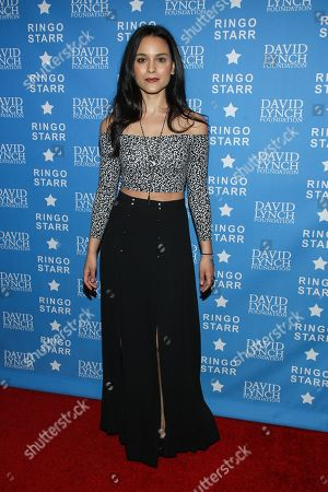 """Stock Image of Actress Maya Stojan attends the David Lynch Foundation Honors Ringo Star """"A Lifetime of Peace & Love"""" event held at the El Rey Theatre on in Los Angeles"""