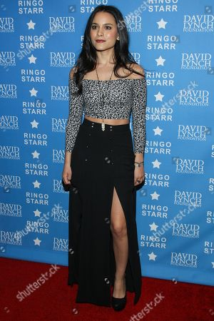"""Stock Picture of Actress Maya Stojan attends the David Lynch Foundation Honors Ringo Star """"A Lifetime of Peace & Love"""" event held at the El Rey Theatre on in Los Angeles"""