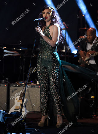 Chrysta Bell performs at the David Lynch Foundation Music Celebration at the Theatre at Ace Hotel, in Los Angeles