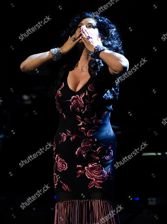 Stock Photo of Rebekah Del Rio performs at the David Lynch Foundation Music Celebration at the Theatre at Ace Hotel, in Los Angeles