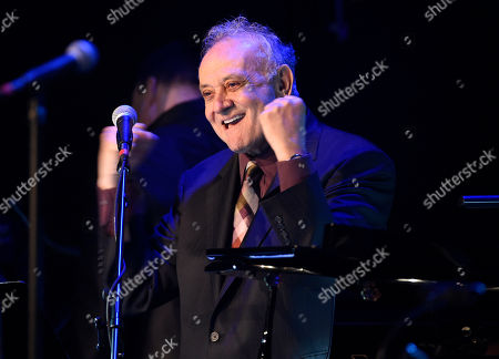 Angelo Badalamenti performs at the David Lynch Foundation Music Celebration at the Theatre at Ace Hotel, in Los Angeles