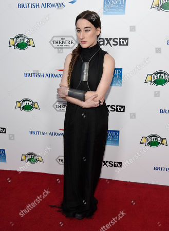 Zola Jesus attends the David Lynch Foundation Music Celebration at the Theatre at Ace Hotel, in Los Angeles