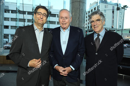 """From left, Tom Rothman, David Picker and Elliot Gould attend David Picker's """"Musts, Maybes and Nevers"""" book party on in Los Angeles"""