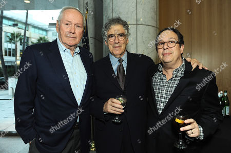"""From left, David Picker, Elliot Gould and Mark Gordon attend David Picker's """"Musts, Maybes and Nevers"""" book party on in Los Angeles"""