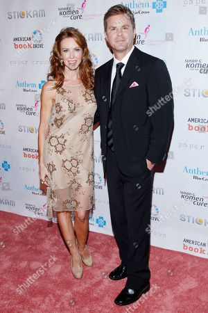 Challen Cates and Aaron Mcpherson attend Design for the Cure at the Millenium Biltmore Hotel, in Los Angeles
