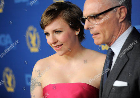 Lena Dunham, left, and Carroll Dunham arrive at the 65th Annual Directors Guild of America Awards at the Ray Dolby Ballroom, in Los Angeles