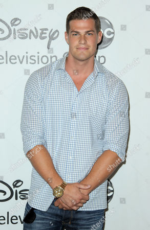 Greg Finley arrives at the Disney ABC Television Group 2012 Summer Press Tour All-Star Cocktail Reception, in Beverly Hills, Calif