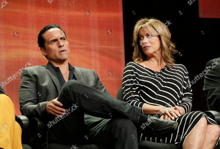 """Maurice Benard and Nancy Lee Grahn attend the Disney ABC panel for """"General Hosptial"""" at the Beverly Hilton Hotel, in Beverly Hills, Calif"""