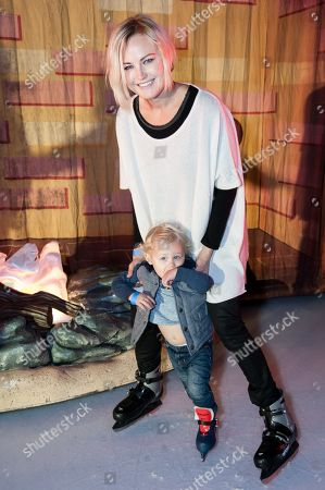 Malin Akerman, and son Sebastian Zincone attend the Disney On Ice Presents Let's Celebrate!, in Los Angeles