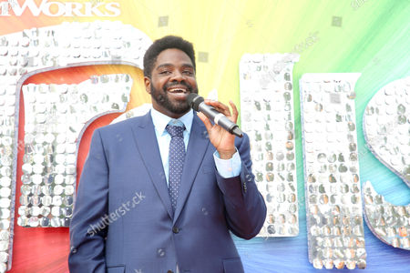 "Ron Funches seen at DreamWorks Animation and Twentieth Century Fox Present the Los Angeles Premiere of ""Trolls"" at Regency Village Theatre, in Los Angeles"