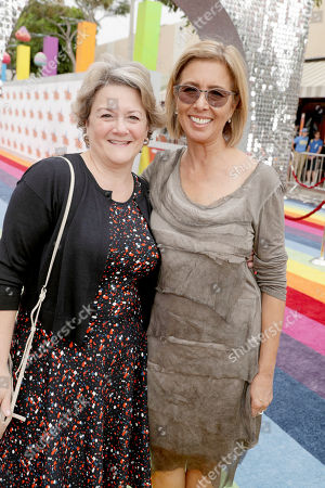 """Bonnie Arnold and Mireille Soria, Co-Presidents of Feature Animation at DreamWorks Animation, seen at DreamWorks Animation and Twentieth Century Fox Present the Los Angeles Premiere of """"Trolls"""" at Regency Village Theatre, in Los Angeles"""
