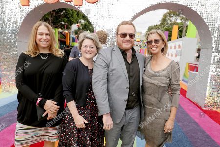 "Producer Gina Shay, Bonnie Arnold, Co-President of Feature Animation at DreamWorks Animation, Co-Director Walt Dohrn and Mireille Soria, Co-President of Feature Animation at DreamWorks Animation, seen at DreamWorks Animation and Twentieth Century Fox Present the Los Angeles Premiere of ""Trolls"" at Regency Village Theatre, in Los Angeles"