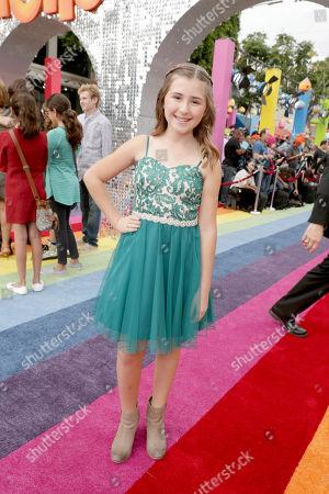 "Hadley Belle Miller seen at DreamWorks Animation and Twentieth Century Fox Present the Los Angeles Premiere of ""Trolls"" at Regency Village Theatre, in Los Angeles"