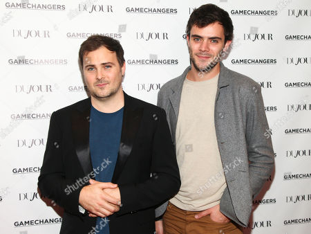 """Stock Picture of David Oliver Cohen, left, and Tanner Cohen, right, attend DuJour Magazine's """"Gamechangers"""" issue celebration at The Friar's Club, in New York"""