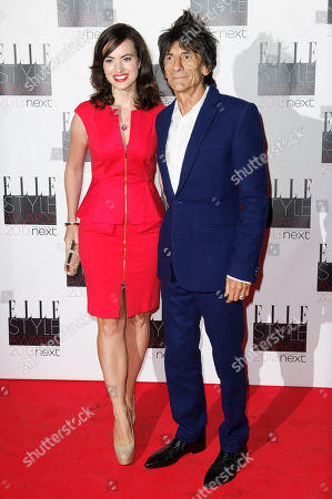 Ronnie Wood and Sally Humphries arrive for the Elle Style Awards at a central London venue, in London