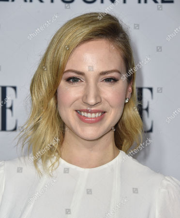 Beth Riesgraf arrives at ELLE's 6th annual Women in Television celebration at the Sunset Tower Hotel, in Los Angeles